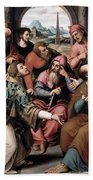 Saint Stephen In The Synagogue Beach Towel
