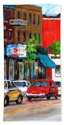 Saint Viateur Street Beach Towel