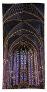 Sainte Chapelle Stained Glass Paris Beach Sheet