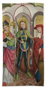 Saints Ambrose Exuperius And Jerome Beach Towel