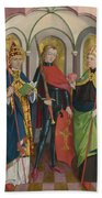 Saints Gregory Maurice And Augustine Beach Towel