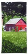 Salem County Farm, Framed Beach Towel