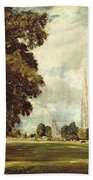 Salisbury Cathedral From Lower Marsh Close Beach Towel