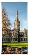 Salisbury Cathedral Beach Towel