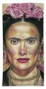 Salma Hayek As Frida Kahlo Beach Towel