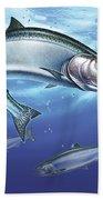 Salmon Painting Beach Towel