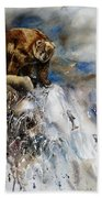 Salmon Run Beach Towel