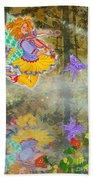 Salmonberry Fairy Merri Goldentree Beach Towel