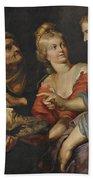 Salome With The Head Of St. John The Baptist Beach Towel