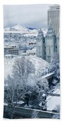 Salt Lake City Tabernacle And Temple Beach Towel