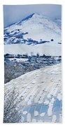 Salt Lake City Tabernacle In Snow Beach Towel