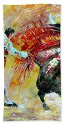 Salto Mortale Beach Towel by Miki De Goodaboom