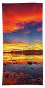 Salton Sea Sunset Beach Towel