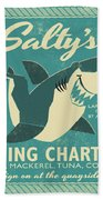 Salty's Fishing Charters Beach Towel