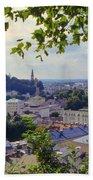 Salzburg City View Four Beach Towel
