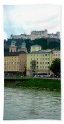 Salzburg Over The Danube Beach Towel by Carol Groenen