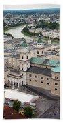 Salzburg Panoramic Beach Towel by Adam Romanowicz
