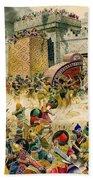 Samaria Falling To The Assyrians Beach Towel