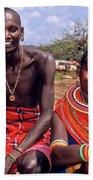 Samburu Couple Beach Sheet