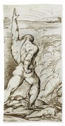 Samson Slaying The Philistines With The Jawbone Of An Ass Beach Towel