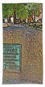 Samuel Adams Gravestone At Granary Burying Ground In  Boston-massachusetts Beach Towel