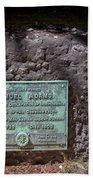 12- Samuel Adams Tombstone In Granary Burying Ground Eckfoto Boston Freedom Trail Beach Towel