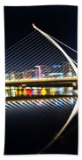 Samuel Beckett Bridge 3 Beach Towel