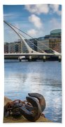 Samuel Beckett Bridge, Dublin, Ireland Beach Towel