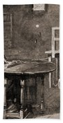 Samuel Morse And Telegraph, 19th Century Beach Towel