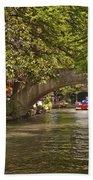 San Antonio Riverwalk Beach Towel by Steven Sparks