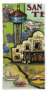 San Antonio Texas Beach Towel