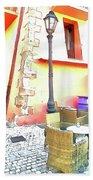 San Felice Circeo Chairs And Street Lamp Beach Towel