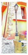 San Felice Circeo Strret Lamp Beach Towel