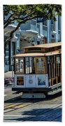 San Francisco, Cable Cars -2 Beach Towel