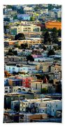 San Francisco California Scenic  Rooftop Landscape Beach Towel