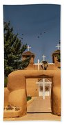 San Francisco De Assisi Mission Church Taos New Mexico Beach Towel
