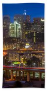 San Francisco From Potrero Hill Beach Towel by Inge Johnsson