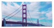 San Francisco Golden Gate Bridge Beach Sheet
