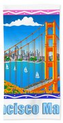 San Francisco Marathon Panorama Beach Towel
