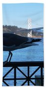 San Francisco - Oakland Bay Bridge - Seagull View Beach Towel