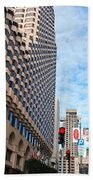 San Francisco Street View - Parc 55  Beach Towel