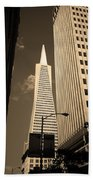 San Francisco - Transamerica Pyramid Sepia Beach Towel