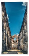 San Galgano Church Ruins In Siena - Tuscany - Italy Beach Sheet