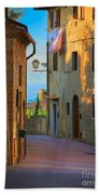 San Gimignano Alley Beach Towel