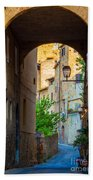 San Gimignano Archway Beach Towel by Inge Johnsson