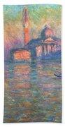 San Giorgio Maggiore Venice Beach Towel by Claude Monet