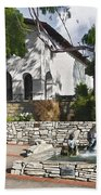 San Luis Mission Fountain Beach Towel