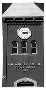San Miguel County Courthouse Beach Towel