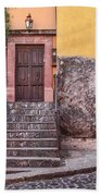 San Miguel Steps And Door Beach Towel