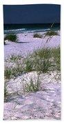Sand Beach And Grass Beach Towel